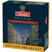Чай RISTON English Breakfast Черный Пакетированный, 100х2г фото