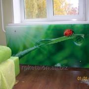 Стеклянные экраны для радиаторов отопления фото