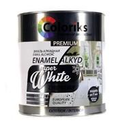Эмаль белая Coloriks Premium (2,7кг.) фото