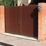 Комплект стандартный №1 распашных ворот 4440 х 2200 коричневый RAL8014 фото