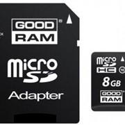 MicroSD C10 8GB GOODRAM 2 in1 RETAIL, MicroSD + адаптер фото