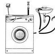 Подключение стиральных и посудомоечных машин фото