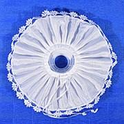 Манжетка атлас белая фото