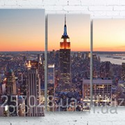 Модульна картина на полотні Нью-Йорк. Манхеттен код КМ100130-072-1 фото