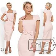 Женское платье-футляр с прямоугольным вырезом (4 цвета) - Розовый НК/-71828 фото
