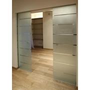 Раздвижные перегородки, раздвижные двери из стекла фото