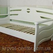 Белый деревянный диван-кровать Луи Дюпон - 2 (190/200*80/90/120). Покрытие - слоновая кость фото