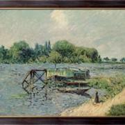 Картина Луан на Сене на Херблэй 1906, Луазо, Гюстав фото