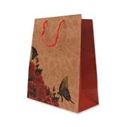 """Пакет подарочный """"Розы и бабочки"""", 26х14х33см (MILAND) фото"""