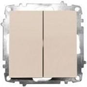 Выключатель 2-х полюсный ZENA модуль крем 609-010300-269 фото