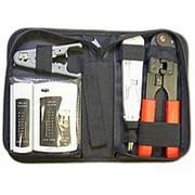 Набор инструментов TK030 для компьютерных сетей, клещи RJ45, спецножи, тестер кабеля, 35 предметов фото