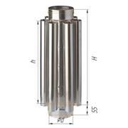 Дымоход-конвектор Феррум нержавеющий (430/0,8мм), ф200, L=0,5м фото