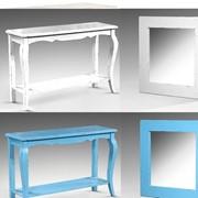 Консоль +зеркало ,туалетный столик для спальни,винтажная мебель фото