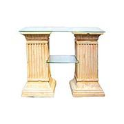 Стол две колонны с 2-полками фото