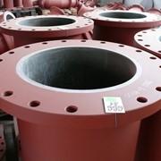Износостойкие футерованные трубы, отводы, выложенные базальтовым литьем или эукором фото
