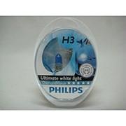 Автолампа H3 (55) PK22s DIAMOND VISION 5000K (2шт) 12v Philips фото