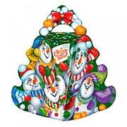 """Коробка для конфет новогодняя Fiesta """"Снеговики"""" 700 гр., 7634 фото"""