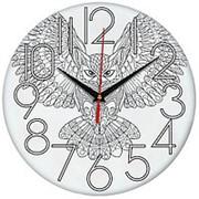 Часы под раскраску Сова фото