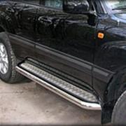 Пороги Toyota LC Prado 120 2003-2009 (лист 60 мм) фото
