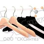 Флокированные бархатные плечики фото