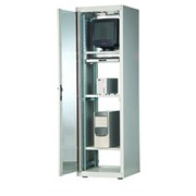 """Шкаф монтажный напольный 19"""" серии LOGIC-2 Арт. 32311842 7U 800х800 перфорированные передние и задние двери фото"""
