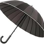 Зонт Ella, черный с белым фото
