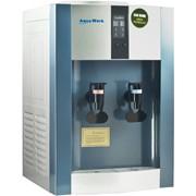 Кулер для воды Aqua Work 16-T/EN-ST серебристо-синий, нагрев и компрессорное охлаждение, функция ЭКО фото
