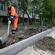 Установка бордюров в Харькове фото