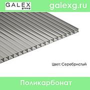 Сотовый поликарбонат POLYGAL (Полигаль) толщ. 6 мм серебристый фото