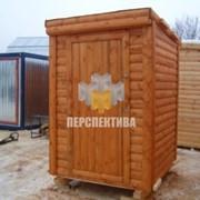 Помещение бытовое бытовка - туалет с отделкой хвойной вагонкой фото