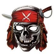 Маска бумажная Череп пирата 27 х 25см фото
