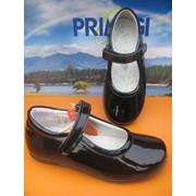 Элегантные туфельки ZURA цвет чёрный лак фото