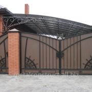 Ворота с калиткой для дома и дачи №42 фото