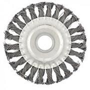 Сибртех Щетка для УШМ 125 мм, посадка 22,2 мм, плоская, крученая металлическая проволока Сибртех фото