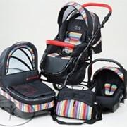Детская универсальная коляска Dada Paradiso Group Etno Paski 2 в 1 фото