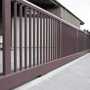 Ворота промышленные откатные фото