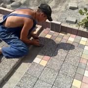 Укладка тротуарной плитки брусчатки Усть-Каменогорск фото