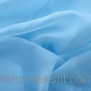 Шторный шифон Голубой, вуаль 3307 фото
