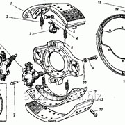 Тормоз передний правый н.о. под диск 19,5 модель 16-3501010-50 фото