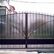 """Кованые распашные ворота """"№16"""" фото"""