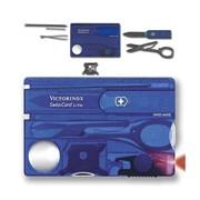 SwissCard Lite Victorinox швейцарская карта маникюрный набор, 13 в 1, Синий (полупрозрачный), (0.73 фото