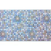 Листовая панель ПВХ Медальон Синий 960*480мм, толщина 0.4 мм фото