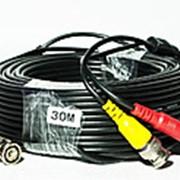 Кабель для системы видеонаблюдения BNC+DC 30 м фото