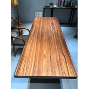 Слэб столешница SL-0015 solid zingana wood (245х88х6см) фото