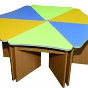 Стол Лепесток из ДСП 1 сегмент фото