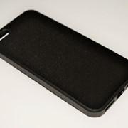Чехол на Айфон 5/5s/SE White Knights рифленый Пластик под кожу Черный фото