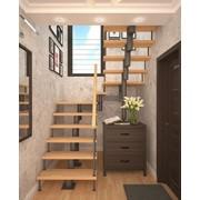 Модульная лестница (с поворотом на 180° и площадками) фото