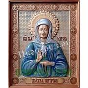 Резные иконы Матрона Московская, святая блаженная, икона, резьба по дереву Высота иконы 32 см фото