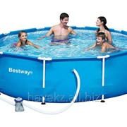 Круглый каркасный бассейн Steel Pro Frame Pool Bestway 56231,56045, (2.44 х 61см) фото