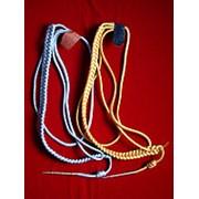 Аксельбант офицерский младший состав (один наконечник) золото/серебро фото